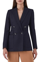 Reiss Tate Double Breasted Jacket Navy