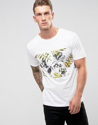 Only And Sons T Shirt With Printed Panel White