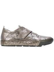 Henry Beguelin Metallic Strap Sneakers Grey