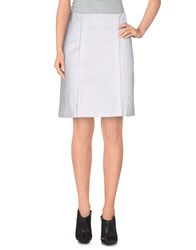 Cristinaeffe Collection Skirts Knee Length Skirts Women White