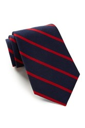 Alara Silk Madison Stripes Tie Red