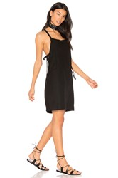 York Street Bib Slip Dress With Ties Black