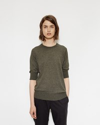 Mhl By Margaret Howell Short Sleeve Thermal Khaki