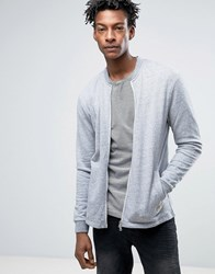Minimum Grenola Sweat Bomber In Grey Melange