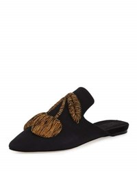 Sanayi313 Ciliegia Embroidered Mule Black Gold Black Gold