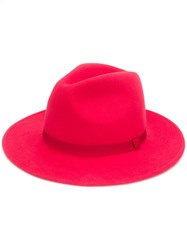 Paul Smith Ps Fedora Hat Red