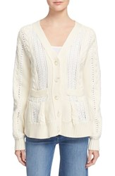 Women's Sea Lace Inset Cardigan