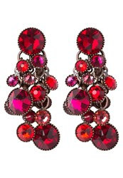 Konplott Waterfalls Earrings Red Dark Rose Dark