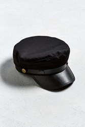 Urban Outfitters Uo Leather Band Fisherman Hat Black