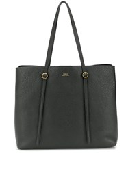 Polo Ralph Lauren Pebbled Texture Tote Black