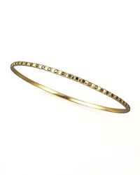 Armenta Eternity Black Diamond Bangle Gold