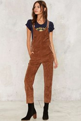 Camp Collection Picture Day Corduroy Overalls Brown
