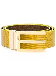 Etro Reversible Belt Yellow And Orange