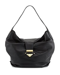 Foley Corinna Oasis Leather Hobo Bag Black