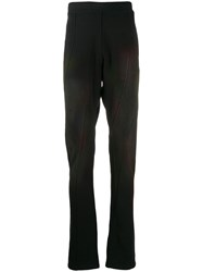 Ann Demeulemeester Twisted Track Pants Black