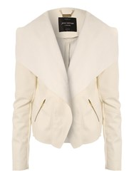 Jane Norman Pu Waterfall Jacket White
