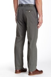 Peter Millar 'Raleigh' Flat Front Washed Cotton Twill Pants Gray