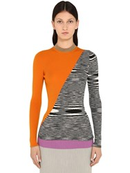 Missoni Bicolor Wool And Metal Knit Sweater Multicolor