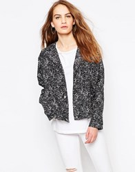 Parka London Lightweight Crop Jacket Black Print