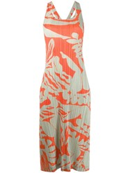 Issey Miyake Pleats Please By Pleated Shift Dress Neutrals