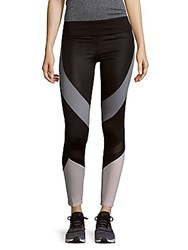 Andrew Marc New York Paneled Performance Leggings Charcoal