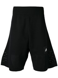 Adidas Logo Bermuda Shorts Men Cotton Polyester Xl Black