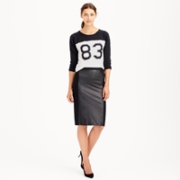 J.Crew Collection Leather Panel Pencil Skirt
