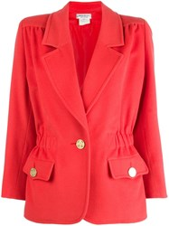 Yves Saint Laurent Vintage Fitted Jacket Red
