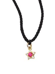 Elizabeth And James Bassa Ruby White Topaz Star Necklace Black Gold