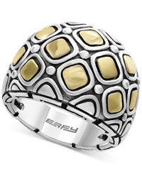 Effy Two Tone Geometric Statement Ring In Sterling Silver And 18K Gold