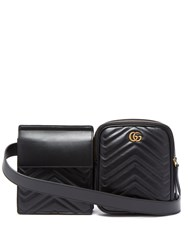Gucci Gg Marmont Leather Belt Bag Black