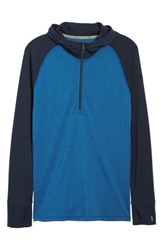 Smartwool Merino 250 Base Layer Hooded Pullover Bright Cobalt Heather