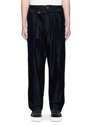 Song For The Mute Pleated Wide Leg Pants Black