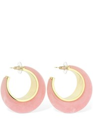 Cult Gaia Mona Hoop Earrings Pink