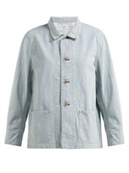 Chimala Striped Cotton Jacket Light Denim