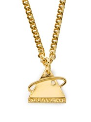 Off White Triangular Logo Necklace Gold