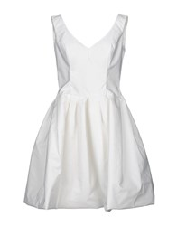 Io Couture Short Dresses Ivory