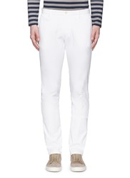 Altea Cotton Canvas Slim Fit Pants White