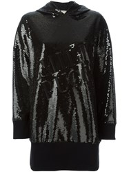 Emilio Pucci Sequin Embellished Hoodie Black
