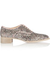 Christian Louboutin Zazou Glitter Finished Canvas Brogues Pink