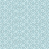 Wallcandy Quatrefoil Aqua White Removable Wallpaper
