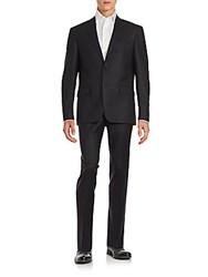 John Varvatos Wool Blend Suit Black