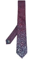 Lanvin All Over Pattern Tie Red
