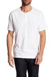 Kenneth Cole Dressy Slub Henley Tee White