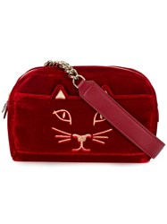 Charlotte Olympia Cat Waist Bag Red