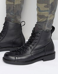 G Star Roofer Lace Up Leather Boots Black