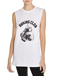 Style Stalker Stylestalker Boxing Club Printed Muscle Tee White