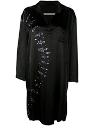 Raquel Allegra Relaxed Tie Dye Dress Black