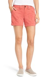 Jag Jeans Women's Izzy Twill Utility Shorts Coral Spice