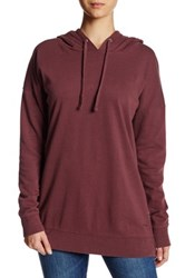 Volcom Lived In Long Pullover Hoodie Red